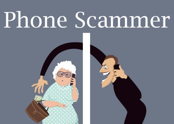 Scammer talks on a phone vallarta gardens